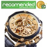 Forsining Jam Tangan Mechanical Luxury Pria - SLZe100 - Hitam Gold