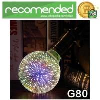 Lampu Bohlam LED Dekorasi Fireworks 3D E27 220V 4W - G80 - Multi Warna