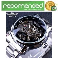 WINNER Jam Tangan Mechanical Luxury Pria - SLZa94 - Hitam