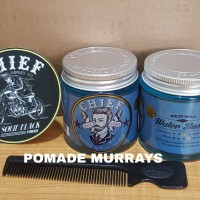 Pomade Chief Blue Waterbased + Free sisir hitam + Stiker