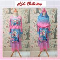 Gamis Anak Perempuan Frozen Setelan Baju Muslim Anak Perempuan Dress