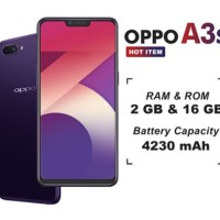 HP OPPO A3S ( OPPO A3 S 2/16) 16/2 16GB - UNGU & Merah /Red