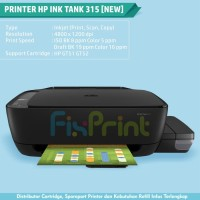Ink Tank Printer HP 315 All-in-One Print Scan Copy Cartridge GT51 GT52
