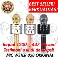Mic Karaoke Portable Bluetooth Wster WS 858 100% ORIGINAL