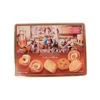 Tresor Dore Fine Danish Flavor Cookies Square Tin