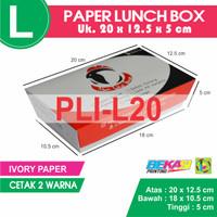 PLI-L20 Paper Lunch Box / Kotak Makan Kertas Ukuran L + Cetak 2 Warna