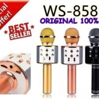 WS858 MICROPHONE BLUETOOTH / WSTER WS-858 MIC KARAOKE WIRELESS KTV