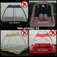 Jual Set kasur bayi, bantal guling, dan kelambu tenda Murah