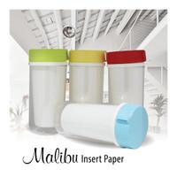 Gelas minum plastik dengan tutup bisa insert kertas print