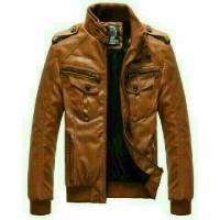 JAKET PRIA PU Leather JAKET MOTOR BOY ANAK JALANAN ORIGINAL semi kulit
