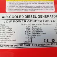 Generator / Genset Silent Diesel / Solar 5000 VA / 5 KVA PRIMERO