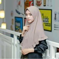 Jual hijab instan khimar pet rempel bawah terbaru dan termurah Murah
