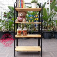 Furniture - Simplicity - Bookshelf 4 Layer Metal frame model 1 (N)