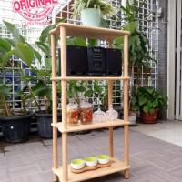 Furniture - Simplicity - Bookshelf 4 Layer Wood frame (N)