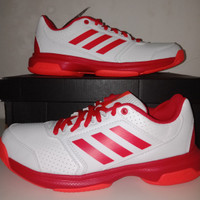 Adidas Adizero Attack White Red Putih Sepatu Tenis Tennis Original 2b1a8521ba