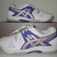 Asics Gel Dedicate 4 White Purple Putih Sepatu Tenis Tennis Original 4c7eaa15d5