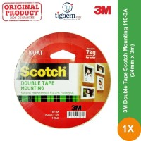 3M Double Tape Scotch Mounting 110-3A (24mm x 3m) - Double Tape Kuat