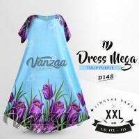 D157 Daster Mega | Dress Vega Payung | Baju Midi Tidur | casual