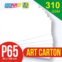 Kertas Art Carton 310 gram Plano 65 x 100 cm