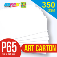 Kertas Art Carton 350 gram Plano 65 x 100 cm