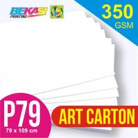 Kertas Art Carton 350 gram Plano 79 x 109 cm