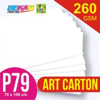 Kertas Art Carton 260 gram Plano 79 x 109 cm