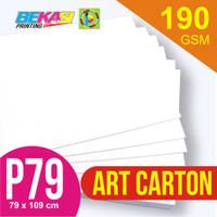 Kertas Art Carton 190 gram Plano 79 x 109 cm