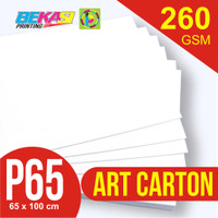 Kertas Art Carton 260 gram Plano 65 x 100 cm