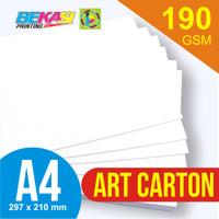 Kertas Art Carton 190GSM A4 21 x 29.7 cm