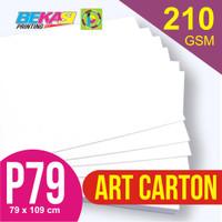 Kertas Art Carton 210 gram Plano 79 x 109 cm