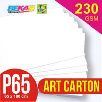 Kertas Art Carton 230 gram Plano 65 x 100 cm