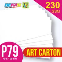Kertas Art Carton 230 gram Plano 79 x 109 cm