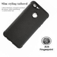 Softcase Silicon Black Matte Grip Cover Case Casing HP Oppo F5/Youth