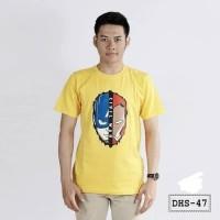 Jual Kaos Pria Motif Superhero Civil war - DHS47 Murah