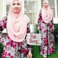 Gamis katun jepang ORIGINAL gamis magda pink berey lyra virna Muslim