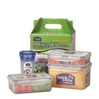 Lock & Lock Special Gift Set Container With Color Box HPL816SC04