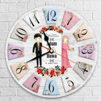 Jam Dinding Vintage Kado Pernikahan Wedding (5 motif) II