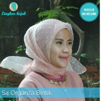 jilbab segi empat organsa bintik harga grosir murah supplier