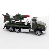 Mainan Anak - Die Cast Metal Military Series Mobil Tentara Rudal Roket