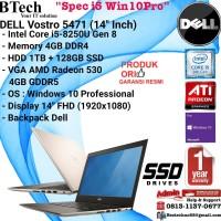 DELL Vostro 5471 Intel Core i5-8250U/4GB/1TB+128GB SSD/VGA/Win10Pro