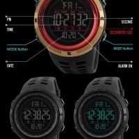 jam tangan pria sport. merk SKMEI. warna merah. kualitas premium