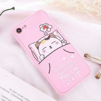 Case Samsung J2 Prime Casing HP Animasi Kartun Pink Lucu 360 Full Body