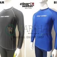 Clear Water Baju Renang Diving Atasan Pria Lengan Panjang MS012