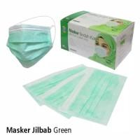 Masker Jilbab Green Onemed Ecer Harga Satuan