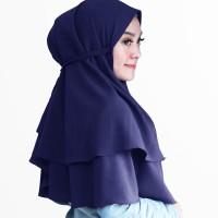 Khimar Bergo 2 Layer Hijab instan Jilbab Instan Kerudung Khimar Bella