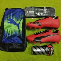 Paket Komplit!! Sepatu Bola Puma Evospeed Kualitas Grad Ori