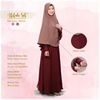 Audina Afifah Gamis Syar'i Original Branded I Dress Wollycrepe Premium