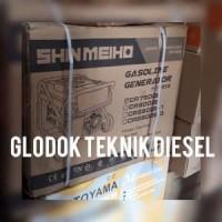 Shin Meiho Genset 5000 W Watt Generator Bensin Listrik Promo