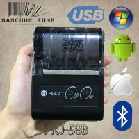 NEW STOCK MOBILE PRINTER PPOB KASIR 58MM THERMAL ANDROID USB BLUE