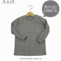Kaos Polos Bayi - Anak Lengan Panjang - Misty Grey   AL&LYF